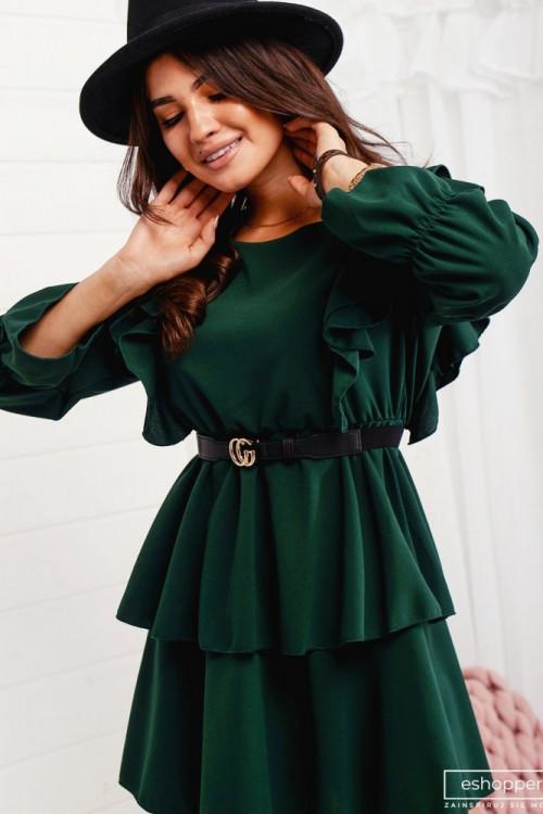 Sukienka MOTYLEK butelkowa zieleń