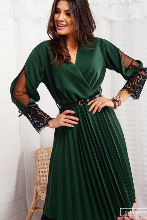 Sukienka VILLOZZA Elegance PLISOWANA KORONKA