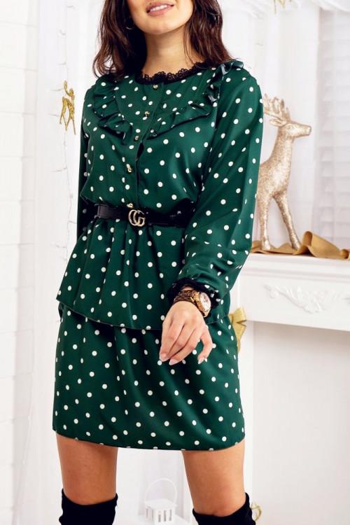 Sukienka MARCELLO elegance BUTELKOWA ZIELEŃ