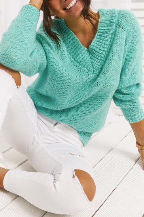 Sweter ISLA SPRING mint