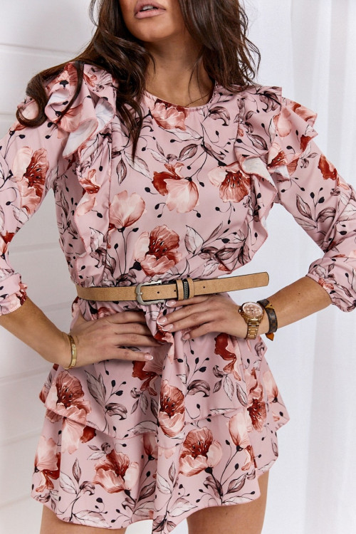 Sukienka SIMPLY FLOWERS puder