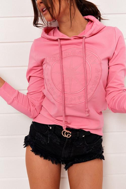 Bluza ONE STAR HOODIE pink