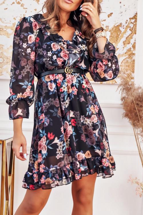 Sukienka VICENZA Flowers black