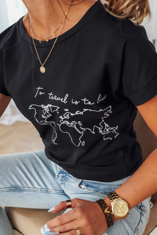 Tshirt TRAVEL AROUND black