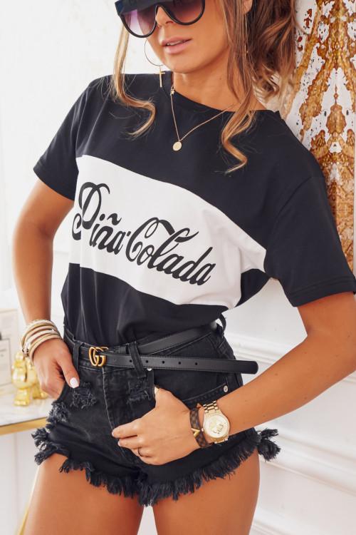 Tshirt PINA COLADA black