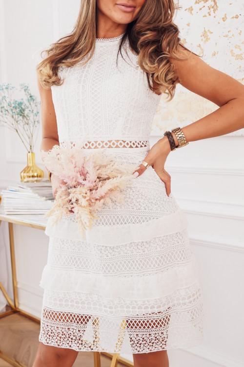 Sukienka VICENZA ELEGANCE koronki white