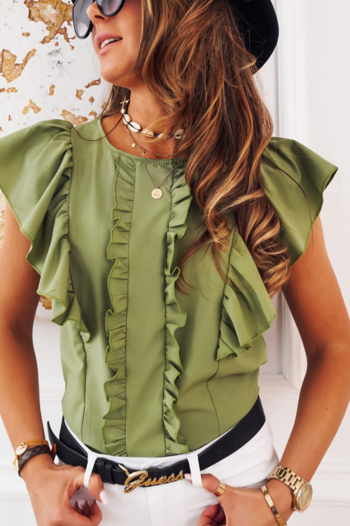 Bluzka VALBENNA elegance khaki