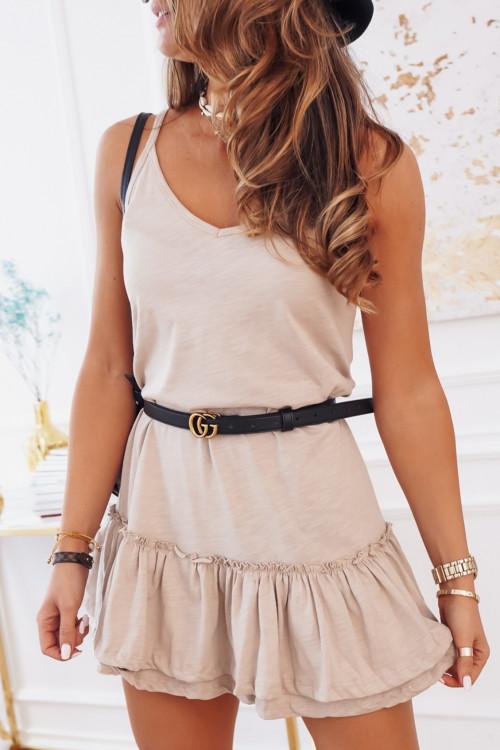 Sukienka VENEZIA BASIC nude-beige