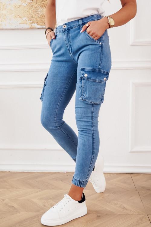Spodnie BOJOWKI JEANSOWE PUMPY