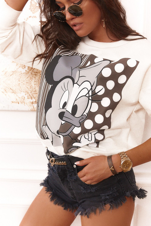 Bluza lifestyle DAISY and MICKEY krem