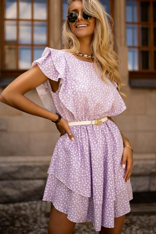 Sukienka LOCCA and LOCCI fiolet motylek