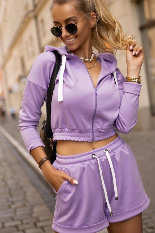 Bluza DRESOWA HOODIE SCOTTY fiolet