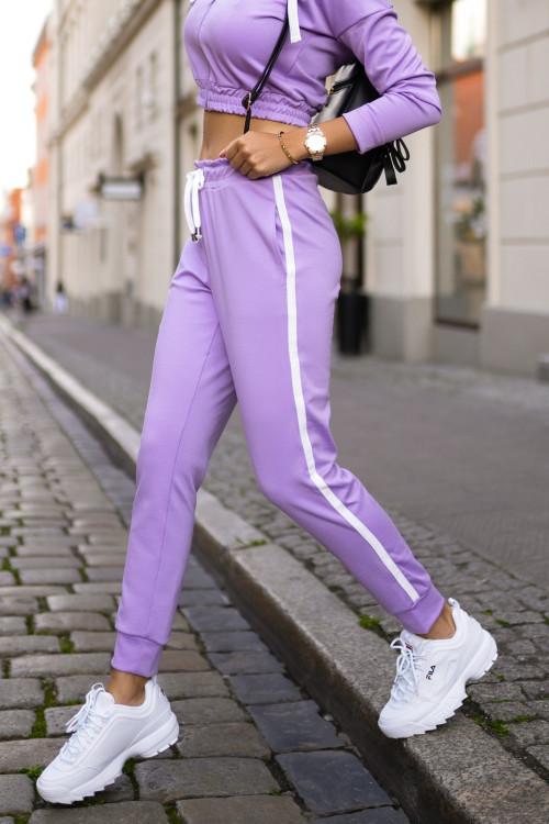 Spodnie DRESOWE PUMPY SCOTTY fiolet