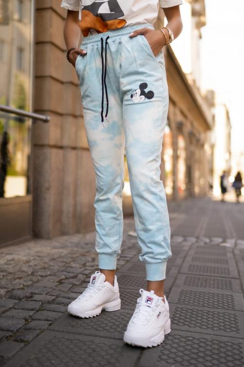 Spodnie dresowe pumpy OMBRE MICKEY blue