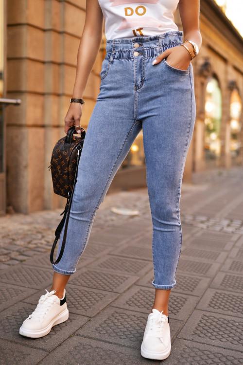 Spodnie HIGH WAIST slim slouch