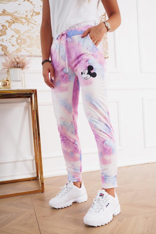 Spodnie dresowe pumpy OMBRE MICKEY pink