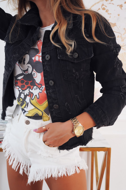 Katana DENIM RIPPED ALL BLACK jeans