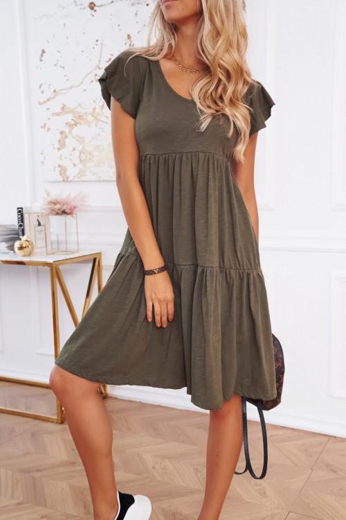 Sukienka LIFESTYLE BASIC khaki