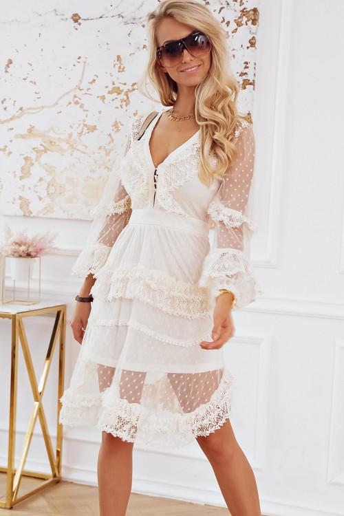 Sukienka CARMELLA PARIS elegance koronki