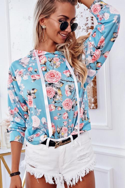 Bluza COSTA FLOWERS SUMMER hoodie MIĘTOWA