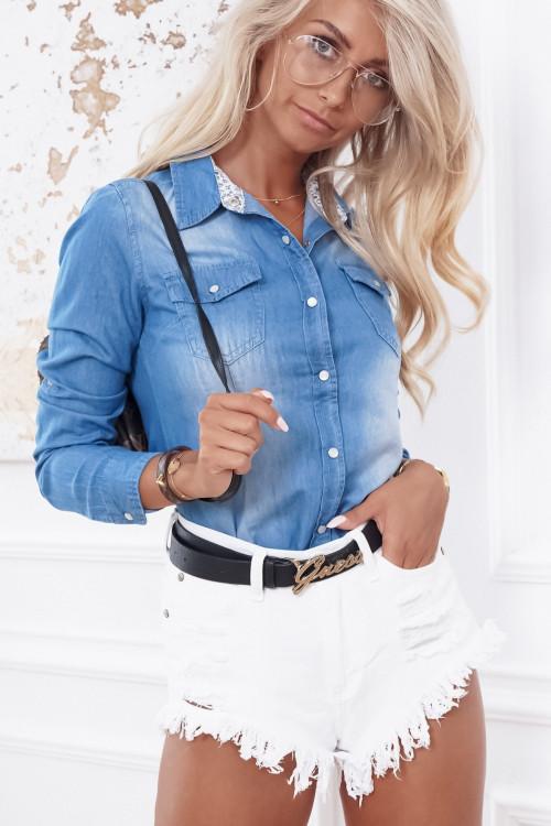 Koszula JEANSOWA SOPHIA jeans blue