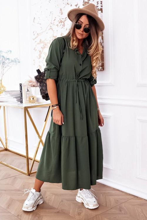 Sukienka BASIC MAXI KHAKI parka