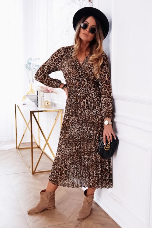 Sukienka PLISOWANA PANTERKA elegance