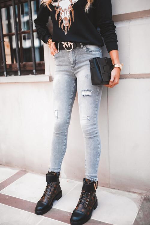 Spodnie MONACO GRAY rurki
