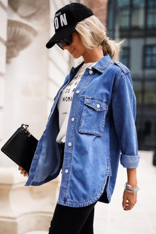 Koszula JEANSOWA DOUBLE POCKET jeans