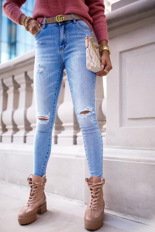 Spodnie CAMMO LIGHT BLUE rurki