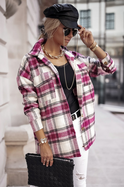 Koszula BEVERLY VINTAGE CHECK pink