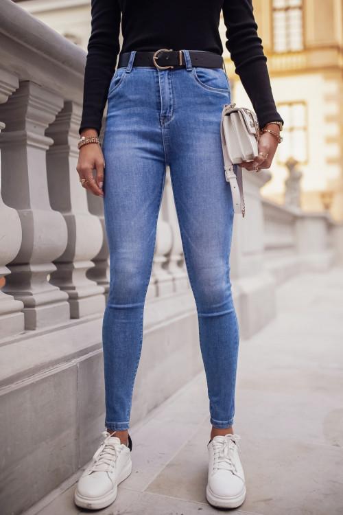 Spodnie CARLITA CLASSIC light blue slim