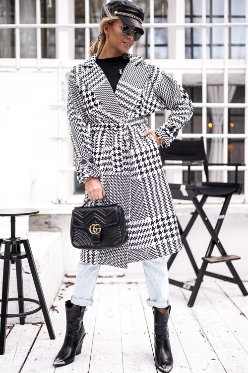 Płaszcz PENELOPPE black and white