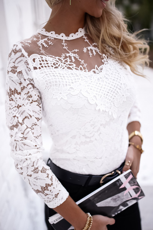 Bluzka KORONKOWA MODELLO white