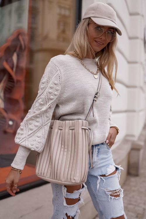 Sweter EMMA DESIGN beż