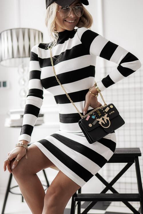 Sukienka REBEL MARINE sweterkowa bodycon