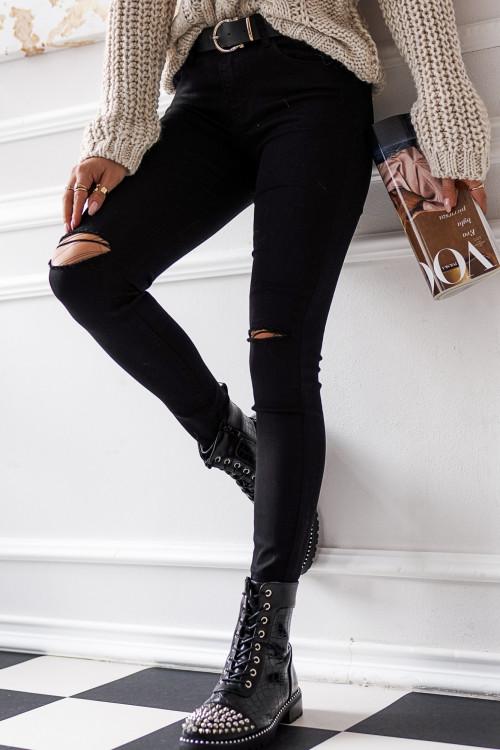 Spodnie MERCATONNE BLACK skinny
