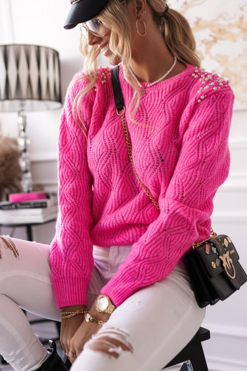 Sweter TIVOLLI PERŁY różowy