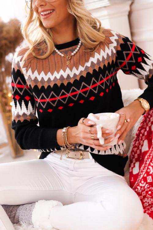 Sweter BERGEN WINTER DESIGN black