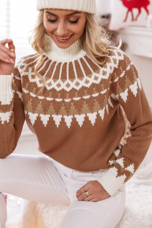 Sweter TORONTO Lifestyle look BEŻ