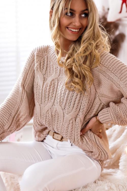 Sweter WARKOCZ WINTER MACHICO lifestyle NUDE BEIGE