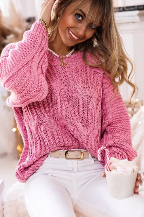 Sweter WARKOCZ WINTER MACHICO lifestyle PUDROWY RÓŻ