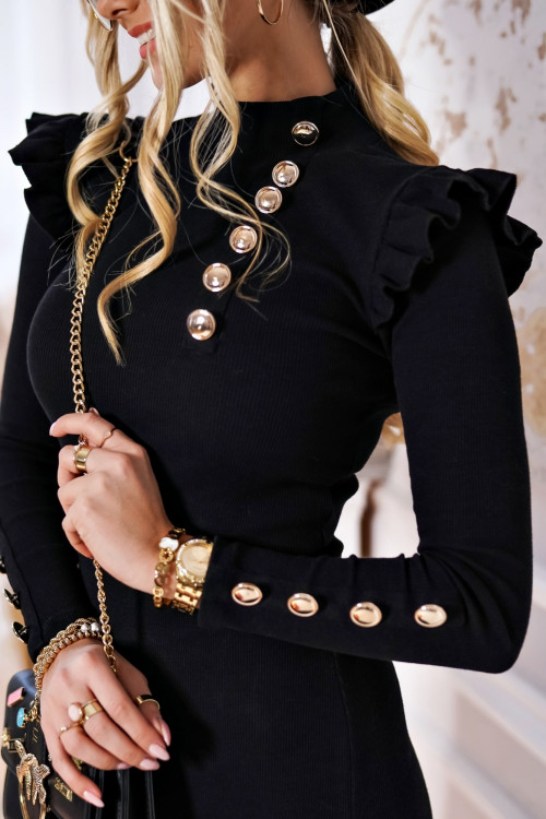 Sukienka BASIC PRĄŻEK BODYCON black