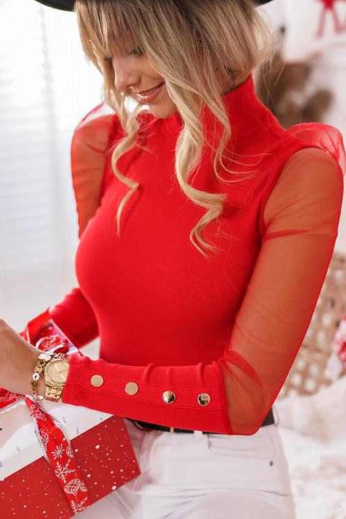Bluzka MARANELLO Elegance RED