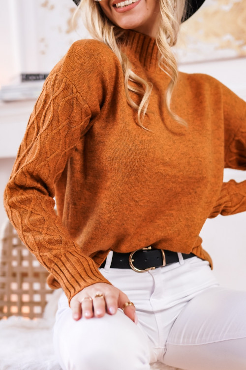 Sweter VICENZA ZIGZAC orange winter