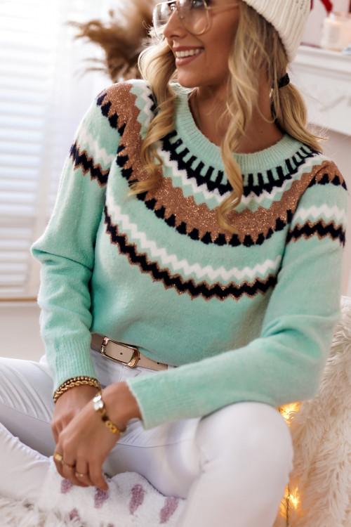 Sweter MILANO MIĘTA winter look