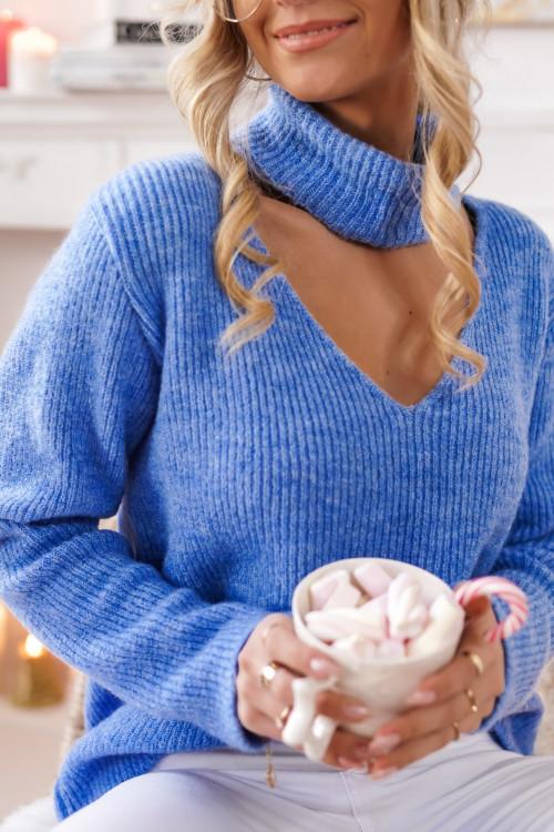 Sweter GOLFIK FOGGIA baby blue