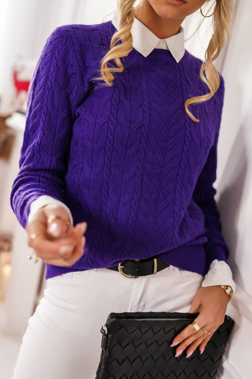 Sweter RALPHINO WARKOCZ fiolet