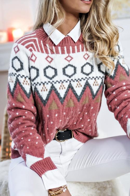 Sweter MATERLOO WINTER Rose