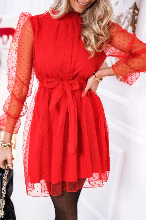 Sukienka TULLA ELEGANCE XMAS red
